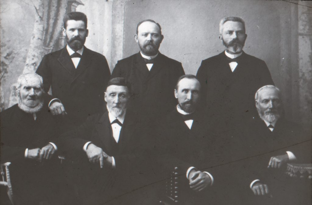 Bornholms baptistmenigheds bestyrelse med Jesper Andersen yderst th.